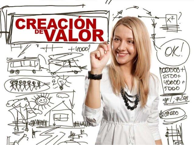 Crear Valor es generar productos constituidos por un diferencial que satisface necesidades insatisfechas de los consumidores al momento.