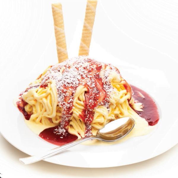Helado espaguetti, típico postre alemán