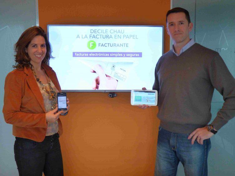 Lorena y Daniel, los fundadores de Facturante