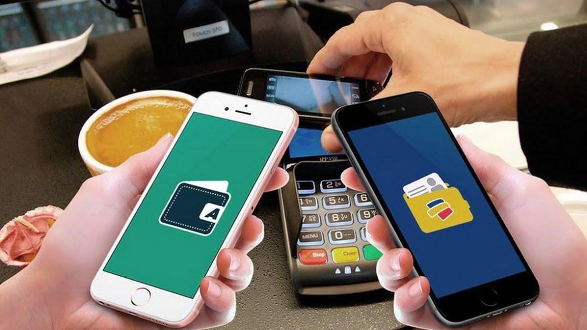 Evite el contacto físico con las billeteras electrónicas